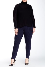 Seven7 Houndstooth Print Skinny Pant (Plus Size)