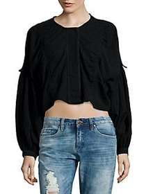 Free People Cropped Long Sleeve Day Dreamin Top BL