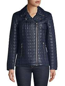 Kate Spade New York Asymmetric Quilted Jacket DEEP