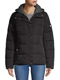 Tommy Hilfiger Hooded Puffer Coat BLACK