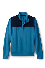 Men's Corduroy Blocked Bedford Rib Quarter Zip Swe