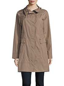 Cole Haan Signature Packable Rain Jacket CHAMPAGNE
