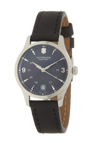 Victorinox Swiss Army Alliance Leather Strap Watch