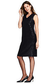 Women's Sleeveless Sparkle Shift Dress