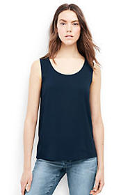 Women's Sleeveless Crepe Tank