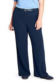 Women's Plus Size Crepe Tailored Pants