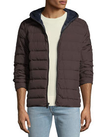 MICHAEL Michael Kors Men's Quilted Down-Fill Hoode