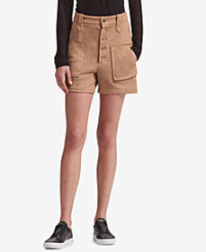 DKNY Faux-Suede Shorts, Created for Macy's