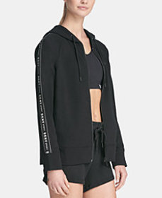 DKNY Sport Logo Taping Zip-Up Hoodie, Created for