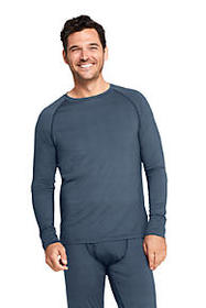 Men's Print Stretch Thermaskin Long Underwear Crew