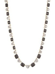 Anne Klein Crystal Collar Necklace GREY