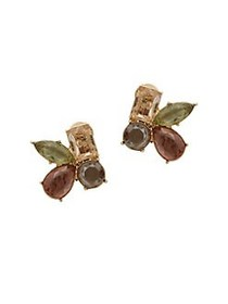 Anne Klein Faceted Cluster Stud Earrings GOLD