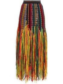Missoni Fringed wool and silk blend skirt