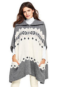 Women's Alpaca Blend Turtleneck Sweater Cape