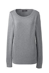 Women's Cotton Modal Textured Dot Crew Sweater