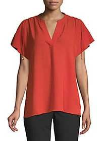 MICHAEL Michael Kors Lace-Up Sleeves Blouse BRIGHT