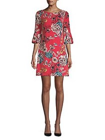 Eliza J Petite Floral-Print Shift Dress RED MULTI