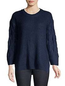 Jack by BB Dakota Cable Knit Sweater DARK BLUE