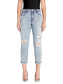 Skinny Girl High-Rise Straight Cropped Jeans SAMAN