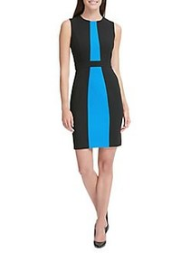 Tommy Hilfiger Colorblock Sheath Dress BLACK BLUE
