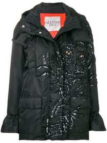 Valentino embellished tiger padded jacket