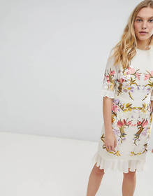 Hope & Ivy Premium All Over Floral Embroidered Min