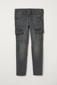 Skinny Fit Cargo Jeans
