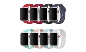 Silicone Solid Color Strap Replacement Band for Ap
