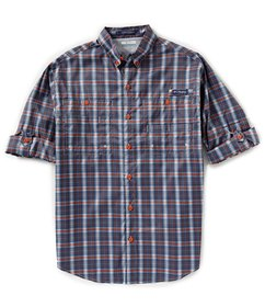 Columbia PFG Super Tamiami Plaid Long-Sleeve Woven