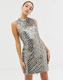 French Connection teardrop embellished bodycon dre