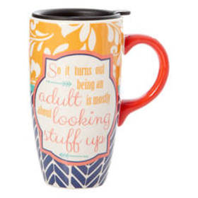 Gibson Adult Looking Things Up Latte Cup