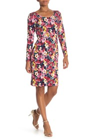 Betsey Johnson Long Sleeve Floral Printed Dress