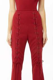 Flared Lace-Up Jumpsuit