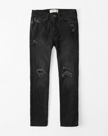 ripped skinny jeans, RIPPED BLACK WASH