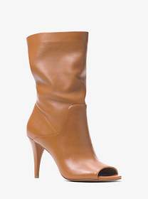 michael michael kors Elaine Leather Open-Toe Boot