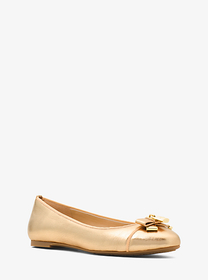 michael michael kors Alice Metallic Leather Ballet