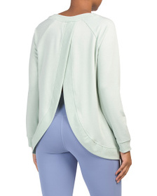 KYODAN Petal Back Soft French Terry Top