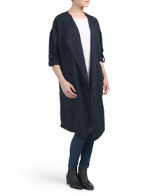 PHILOSOPHY Roll Tab Sleeve Soft Trench Coat