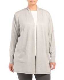 VERVE AMI Plus Long Cardigan With Ribbing