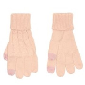 GOLD TOE Womens Cable Knit Touch Screen Gloves