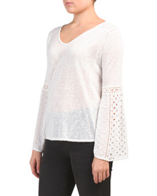 BELLA AMBRA Made In Italy Jersey Top
