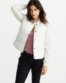 The A&F Perfect Puffer, WHITE