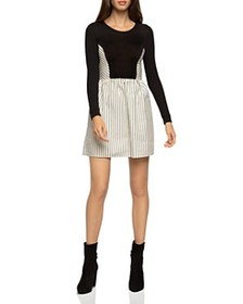 BCBGeneration - Striped Mixed Media Dress