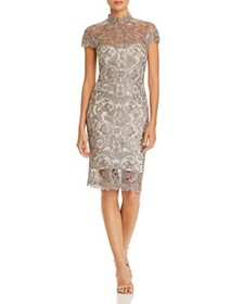 Tadashi Petites - Embroidered Illusion Dress