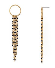 Rebecca Minkoff - Waterfall Beaded Fringe Drop Ear