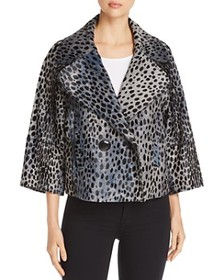 Elie Tahari - Edna Cheetah-Print Calf Hair Jacket