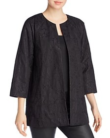 Eileen Fisher - Embroidered Open Front Jacket