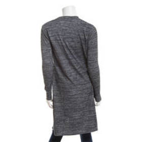 Premise Long Sleeve Hacci Space Dye Open Duster To