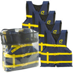 Overton's Universal Adult Life Jackets, 4-pack, bl