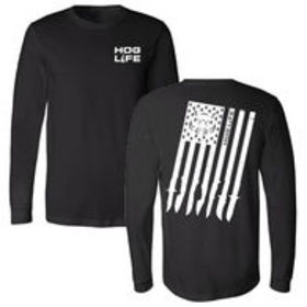Hog Life Men's Flag Long-Sleeve Tee